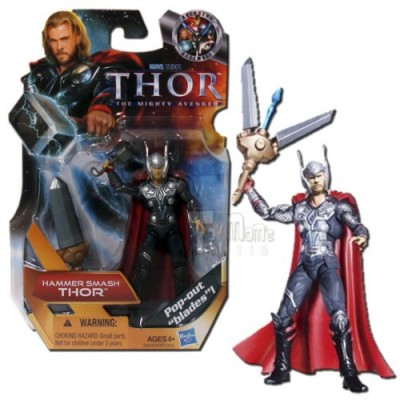 Thor: The Mighty Avenger Action Figure #07 Hammer Smash Thor 3.75 Inch