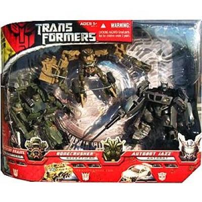Transformers Movie 3 Pack, Autobot Jazz, Bonecrusher, Deception Brawl