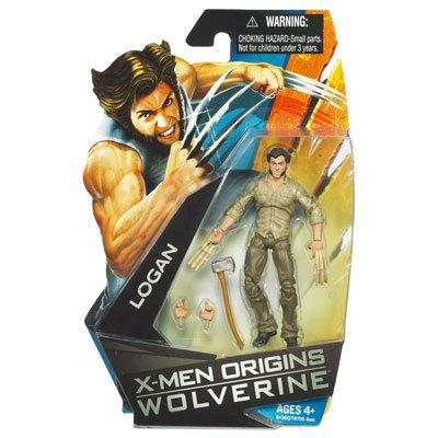 X-Men Origins Wolverine Movie Series 3 3/4 Inch Action Figure Logan with Bone Claws