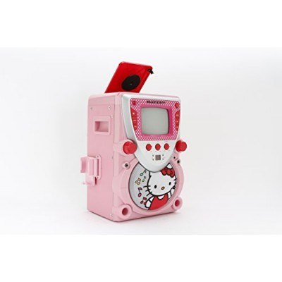 Hello Kitty 68109 CD Karaoke System with Screen, Pink/White