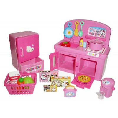 Hello Kitty Kitchen Play Set Miniature Toy Preschool Girl Role Play