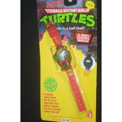 Raphael Teenage Mutant Ninja Turtles Watch: Tmnt Flip Top 1993 Quartz Watch.