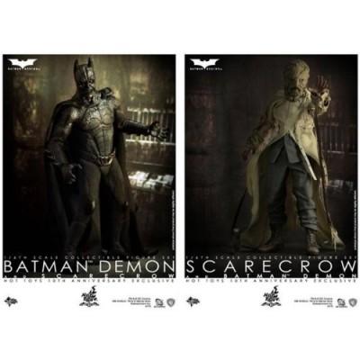 Hot Toys Batman Begins 10th Anniversary Exclusive Movie Masterpiece Deluxe Collectors 1/6 Scale Action Figure 2Pack Batman Demon Scarecrow