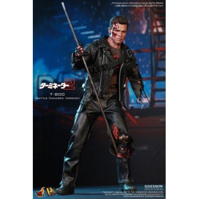 Hot Toys - Terminator 2 figurine DX 1/6 T-800 Battle Damaged 32 cm