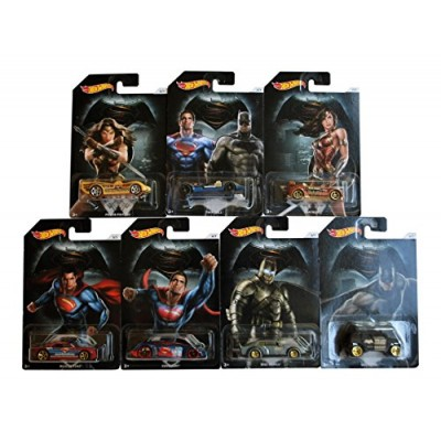 2016 Hot Wheels Batman Vs. Superman Cars Set Of 7 Wonder Woman