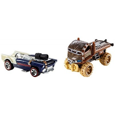 Hot Wheels Star Wars Character Car 2-Pack, Han Solo and Chewbacca