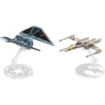 Hot Wheels Star Wars Rogue One Starship Raven Red 5 Deluxe vs. X-Wing Vehicle (2 Pack)