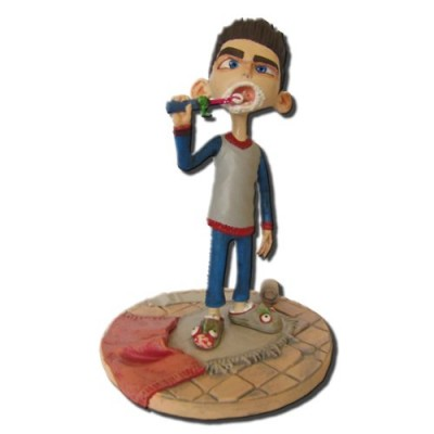 ParaNorman Norman Babcock in Pajamas with Toothbrush 4-Inch Action Figure by Huckleberry Toys