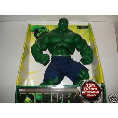 """1st Hulk Movie 13"""" Poseable Hulk Deluxe Action Figure (2003 Toy Biz)"""