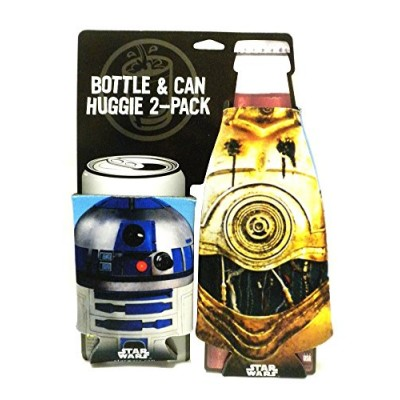 ICUP Star Wars Droids Bottle and Can Huggie/Koozie (2 Pack), Clear