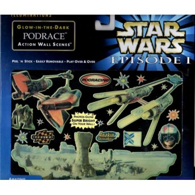 Star Wars Episode I: The Phantom Menace Glow-in-the-dark PODRACE Action Wall Scenes