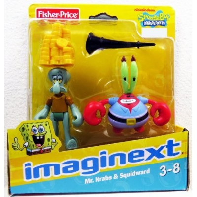 Imaginext, SpongeBob Square Pants Exclusive Figures, Mr. Krabs & Squidward, 2...