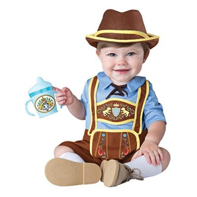 InCharacter Costumes Baby Boys' Little Lederhosen Costume, Blue/Brown, Large
