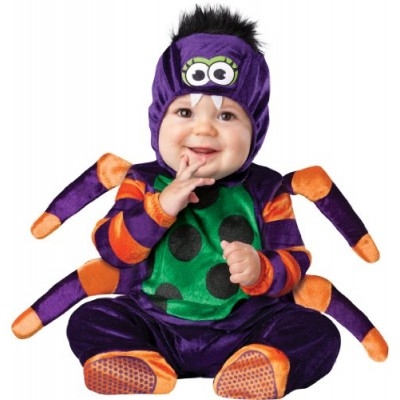 InCharacter Costumes Baby's Itsy Bitsy Spider Costume, Purple/Green/Orange/Black, Small