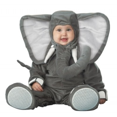 InCharacter Costumes Baby's Lil' Elephant Costume, Grey, Medium/12-18 Months