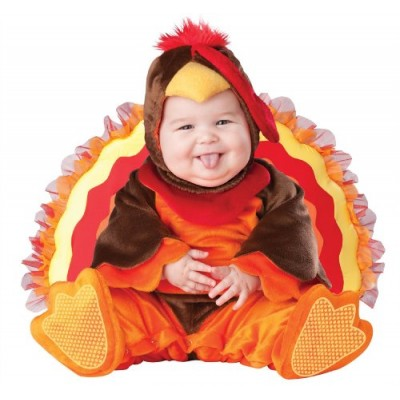 InCharacter Costumes Baby's Lil' Gobbler Turkey Costume, Brown/Orange, Medium