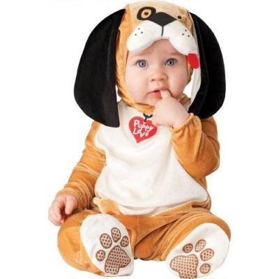 InCharacter Costumes Baby's Puppy Love Costume, Tan/White/Black, Medium