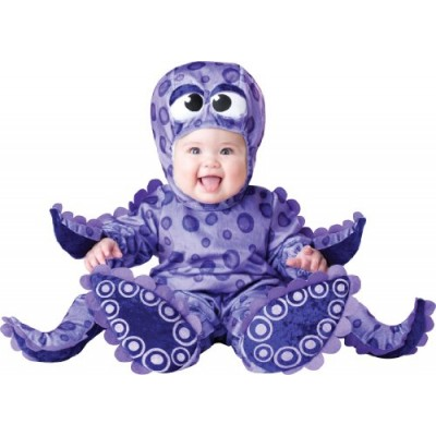 InCharacter Costumes Baby's Tiny Tentacles Octopus Costume, Purple, Medium