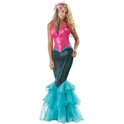 InCharacter Costumes Women's Mermaid Costume, Pink/Blue, Small