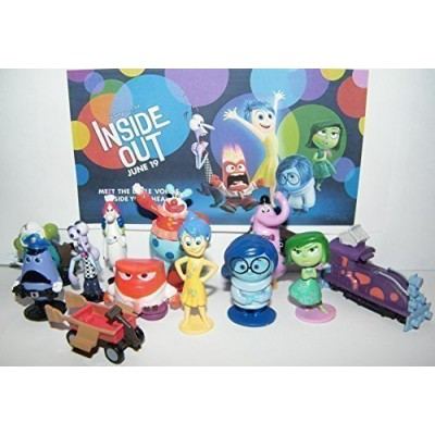 Disney Inside Out Movie Figure Set Toy Playset of 12 with Joy, Fear, Anger, Disgust, Sadness, Bing Bong, Rainbow Unicorn, Jangles the Clown Etc and...