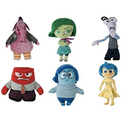 "Disney Pixar Inside Out Deluxe 8"" Plush Set of 6 Includes: Joy , Bing Bong , Disgust , Fear , Anger & Sadness"