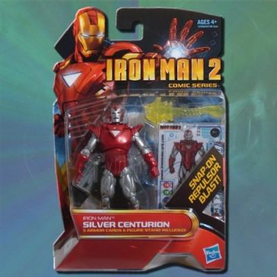 Iron Man 2 Comic Series Action Figure #34 Silver Centurion Iron Man 3.75 Inch