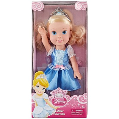 "Disney Princess - Toddler Doll - Cinderella, Poseable Body, Incl. Tiara, 13"""