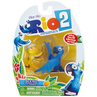Rio 2 Blu & Nico 2 pack movie figure