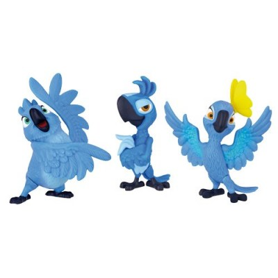 Rio 2 Movie Bia, Carla, & Tiago Mini Figures 3-pack, 2 Inch