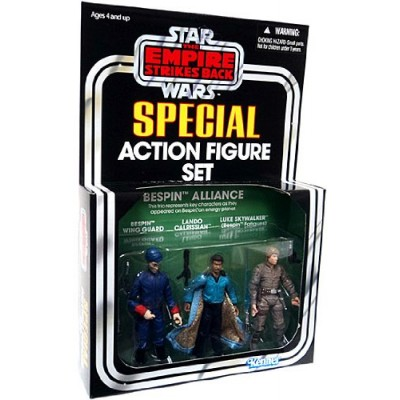 Kenner Star Wars The Empire Strikes Back Special Action Figure Set Bespin Alliance Bespin Wing Guard, Lando Calrissian, Luke Skywalker