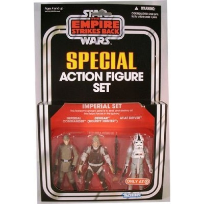 Kenner Star Wars The Empire Strikes Back Special Exclusive Action Figure 3Pack Imperial Set Imperial Commander, Dengar, ATAT Driver