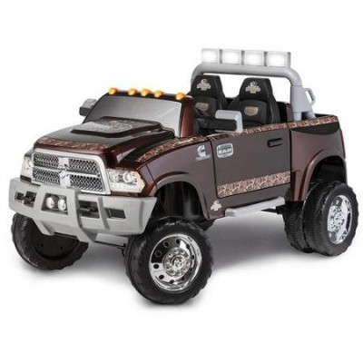 Dodge Ram 3500 Dually Longhorn Edition 12-Volt Battery-Powered Ride-On, Mossy Oak