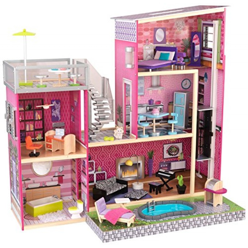 Kidkraft Girl 39 S Uptown Dollhouse With Furniture