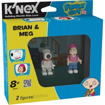 K'nex Family Guy-Brian and Meg Buildable Figures