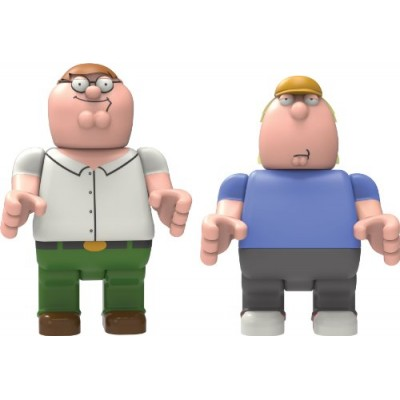 K'nex Family Guy-Peter and Chris Buildable Figures