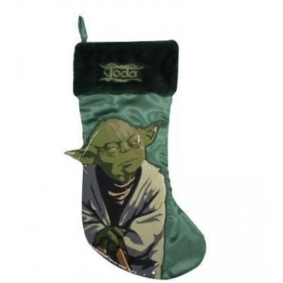 18 Inch Star Wars Yoda St Nick Christmas Stocking