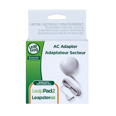 LeapFrog AC Adapter (Works with all LeapPad2 and LeapPad1 Tablets, LeapsterGS Explorer, Leapster Explorer and  Leapster2)