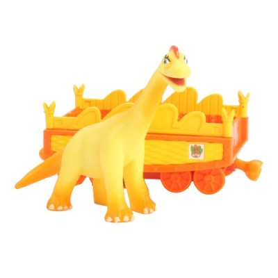 Learning Curve Dinosaur Train Collectible Dinosaur With Train Car - My Friends Are Quadrapeds: Ella Brachiosaurus