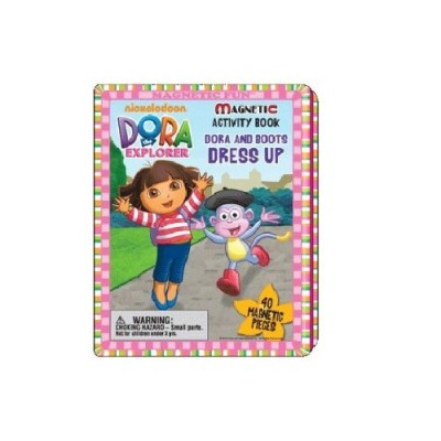 Dora the Explorer Magnetic Activity Book Dora and Boots Dress Up