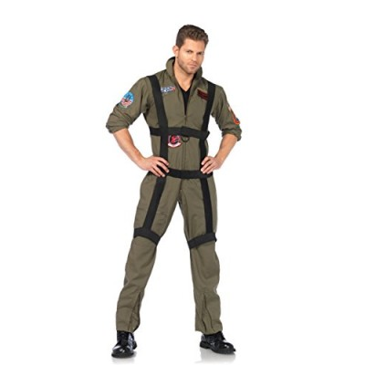 Leg Avenue Men's Top Gun Paratrooper Costume, Khaki, Small/Medium
