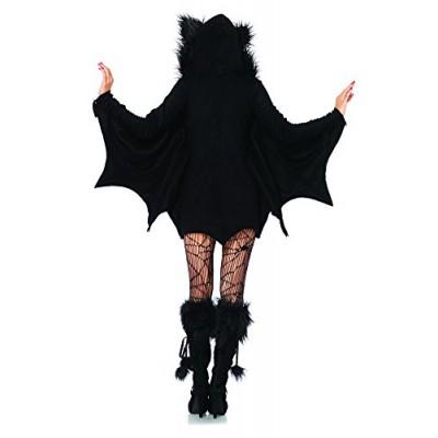 Leg Avenue Women's Cozy Bat Costume, Black, Medium