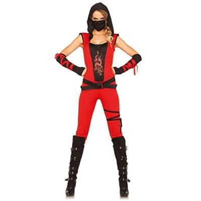 Leg Avenue Women's Ninja Assassin Costume, Red/Black, Small