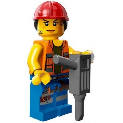 The Lego Movie Gail the Construction Worker Minifigure Series 71004