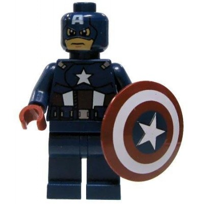 Lego Marvel Super Heroes Minifigure: Captain America with Shield