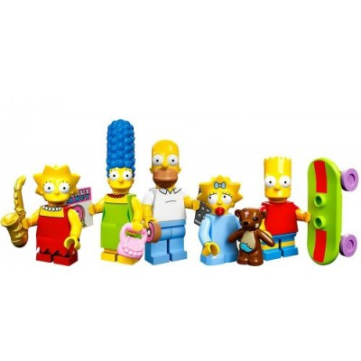 LEGO Minifigure Collection LEGO Simpsons Series LOOSE Set of all 5 Simpsons Family Members