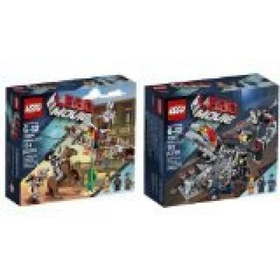 Lego Movie 70801 Melting Room Set & 70800 Getaway Glider Building Sets