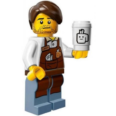The Lego Movie Larry the Barista Coffee Minifigure Series 71004