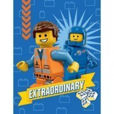 "The Lego Movie Plush Throw Fleece Blanket 46"" x 60"""