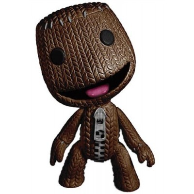 Little Big Planet Mega Deluxe 9 inch Sackboy with Open Smile Mouth Action Figure