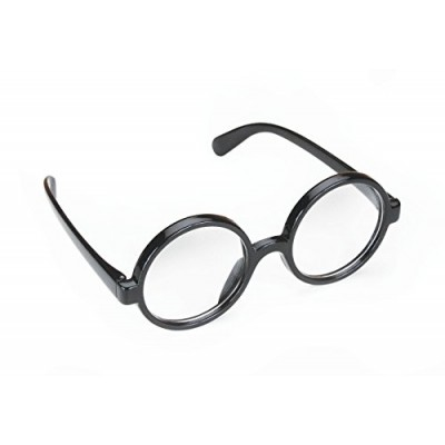 Quality Wizard Black Round Frame Glasses (2in Lenses)